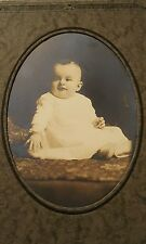 Vintage Antique Photograph Portrait of 5 month old baby boy Infant identified