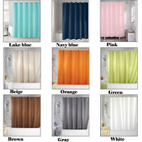 NEW Pure Color Bathroom Curtain Polyester Waterproof Shower Curtain Set 6879