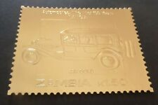 Zambia 1986 Automobiles Cars First 100 years Lancia GOLD MNH UM unmounted