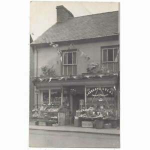 LAMPETER W.Davies Boro Stores, Grocers Shop Front RP Postcard Unused