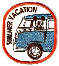 Mickey Mouse Summer Vacation in Volkswagen VW Bus embroidered Iron on Patch