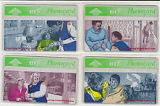 BT Commemorative set 164 to 167, Medical, Red Cross, Mint Phonecards