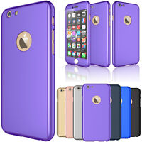For iPhone 6 6s 7 8 Plus X XR Xs 11 Pro Max Screen Protector Case 360 Full Cover