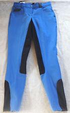 BR Damen Reithose, 3/4 Vollbesatz,blau, Gr. 40, Stretchbeinabschluß (1204)