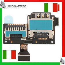 FLAT Flex Galaxy S4 MINI i9195 lettore SIM Micro SD Memory card Per Samsung