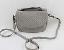Bottega Veneta Vintage Beige Intrecciato Leather Cross Body Shoulder Bag Handbag