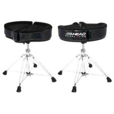 Ahead Spinal G Drum Throne Black Cloth Top and Black Sparkle Sides 18 in.