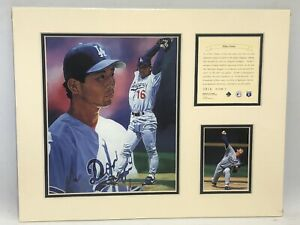 Hideo Nomo Los Angeles Dodgers Matted Kelly Russell Lithograph Art Print #2035