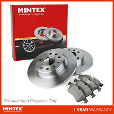 REAR DISCS AND PADS FOR AUDI A4 1.9 TD 2004-08 OPT2 MINTEX FRONT