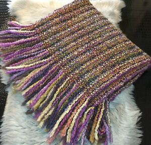 NWT Kennebunk Home Luxurious Woven Thistle Multi-Color Throw Blanket Made In USA