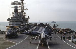 original 35mm Aircraft slide  HMS Hermes  Jul 1982