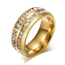 Size 7-12 Stainless Steel Ring Men Women's Wedding Band Silver Gold Plated Newly