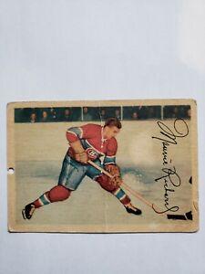 1953 Maurice Richard Parkhurst card no. 24 bv$$ 53-54 parkie Montreal canadiens