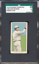 "1909-11 T206: John McGraw ""Finger in Air, New York"" Piedmont 350 25   SGC 40 3"