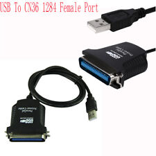 New USB To CN36 Female Port Parallel Printer Print Converter Cable 80CM