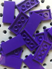 Lego 2x4 Dark Purple Flat Tiles Smooth Finishing Building Floor New Lot Of 12