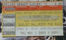 Rare 3 Three Doors Down - November 9, 2000 Ticket Stub - Eagles Ballroom