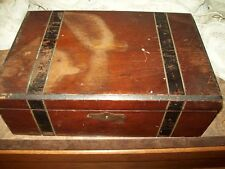 Antique Wooden Primitive Writing Box With Insides,  Needs Restoration