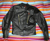 vintage ERBO Motorradjacke Lederjacke 70s german motorcycle leather jacket S