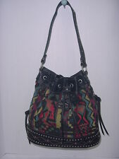 Bandana by American West Canyon Drawstring Bucket Bag Black One Size