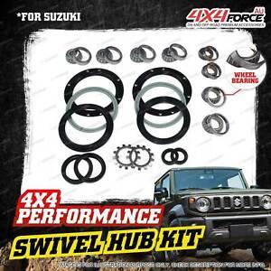 Swivel Hub King Pin + Bearing Wheel Bearing Seal Kit for Suzuki Jimny SN413
