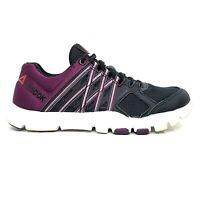 Reebok Womens Black Burgundy Yourflex V72488 Athletic Running Shoes Size US 6.5