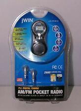 jWIN - JX-M20 Digital Tuning AM/FM Pocket Radio and Alarm Clock.