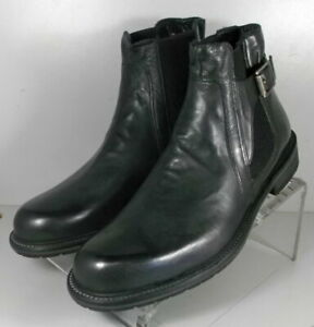 272209 SPiBT60 Men's Shoes 9 M Gray Leather Boots Made in Italy Johnston Murphy