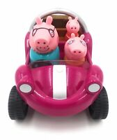 PEPPA PIG PURPLE BEACH BUGGY WITH SOUNDS. TALKING MUSICAL CAR TOY FAMILY FIGURES