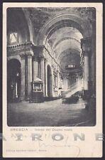 BRESCIA CITTÀ 61 INTERNO CHIESA Cartolina viaggiata 1907