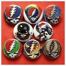 "GRATEFUL DEAD 1"" buttons badges JERRY GARCIA DEADHEAD DEAD HEAD STEAL YOUR FACE"