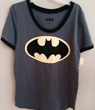 Ladies Batgirl Logo DC Comics T Shirt XLarge 15-17 Batman Grey