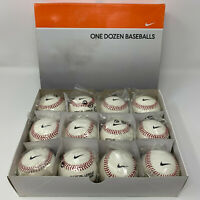 New Nike One Dozen 12 NFHS Premium Leather Baseballs Cork Center Collectors Item