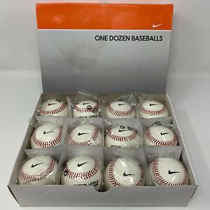 New Nike One Dozen 12 NFHS Premium Leather Baseballs Cork Center Collectors Item