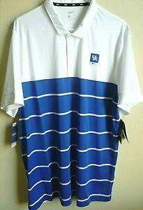 NCAA Adidas Kentucky Wildcats Striped Polo Shirt XL NWT CJ1199