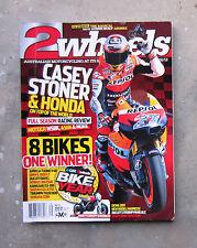 TWO 2 WHEELS Feb 2012 - CASEY STONER HONDA DUCATI MV AGUSTA BOTY MOTORCYCLE GP