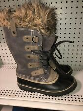 Sorel Joan Of Arctic Womens Waterproof Insulated Winter Snow Boots Size 6 Gray