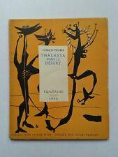 """Francis PICABIA """" Thalassa dans le désert """" E.O. 1/25 Hors Commerce, 1945 RARE"""