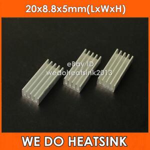 100pcs 20x8.8x5mm Aluminum Epoxy Attach On Heatsink Transistor For 14/16 pin DIP