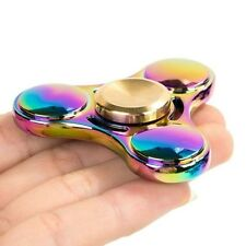 Tri Fidget Hand Spinner Rainbow Focus Gyro ADHD Anti Stress Desk Finger Toy NL