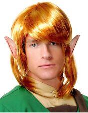 Elf Warrior Wig Link The Legend of Zelda Adult Accessory Blonde Costume