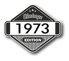 VINTAGE Edizione 1973 Classic Retro Cafe Racer Stile Moto AUTO Adesivo Vinile