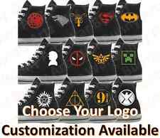 Custom hand painted Fandom / Fan Art Logo Converse All Stars canvas sneakers