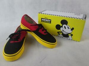 VANS DISNEY AUTHENTIC MICKEY MOUSE BODY CANVAS SHOES UNISEX KIDS 3.5 NEW
