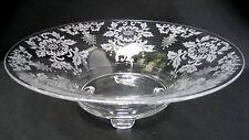 "Cambridge LORNA Etch 748 Large 12.5"" Crystal Centerpiece Bowl ~ Excellent!"
