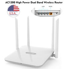 1200Mbps Gigabit WLAN WIFI Router Dual Band 2.4GHz/5GHz 4xLAN Access Point PPPOE