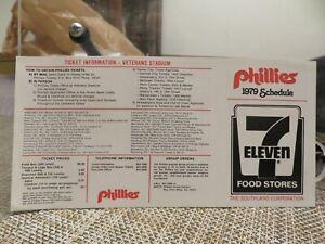 PHILADELPHIA PHILLIES 1979 POCKET SCHEDULE