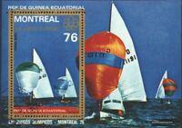 Äquatorial-Guinea Block209 (kompl.Ausg.) gestempelt 1976 Olymp. Sommerspiele, Mo