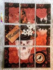 """Set of 9 Cards~Halloween """"Spooky""""~Pocket Pen Pal Letter Kit~with Protector~#76N"""