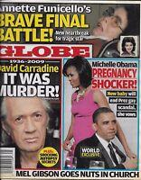 Globe Magazine Barack And Michelle Obama David Carradine Annette Funicello 2009